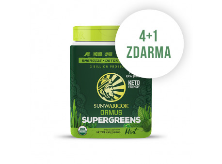Ormus Super Greens BIO mátový (4 + 1 ks ZDARMA)