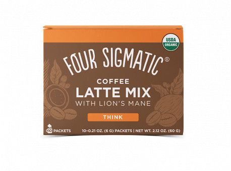 Coffee Latte + Maitake & Chaga mushroom mix
