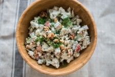 Raw Cauliflower Salad with Walnuts and Dill