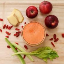 Grepové smoothie se zázvorem a goji – 2 sklenice
