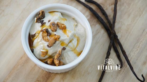 Lískooříšková zmrzlina s vanilkou