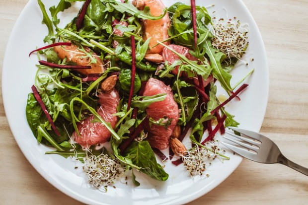 Salad With Red Grapefruit